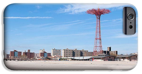 New York City Photographs iPhone Cases - New York City Coney Island iPhone Case by Rospotte Photography