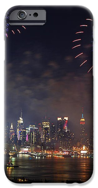 New York City fireworks show iPhone Case by Songquan Deng