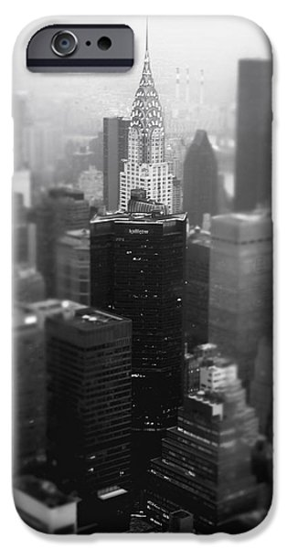 Rooftop iPhone Cases - New York City - Fog and the Chrysler Building iPhone Case by Vivienne Gucwa