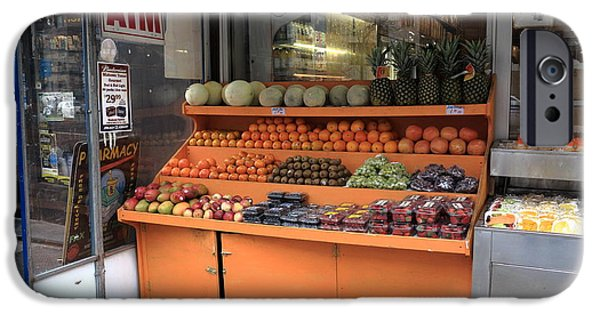 Business iPhone Cases - New York City Fruit Stand iPhone Case by Frank Romeo