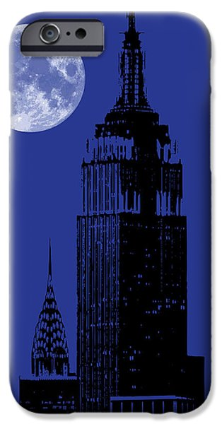 Empire State Digital iPhone Cases - New York City iPhone Case by Gary Grayson