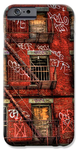 Boarded Up iPhone Cases - New York City Graffiti Building iPhone Case by Amy Cicconi
