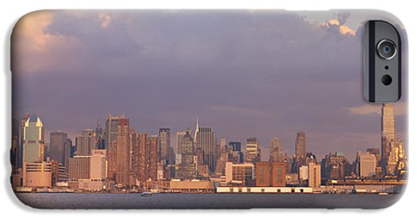 Hudson River iPhone Cases - New York City Hudson River Ny iPhone Case by Panoramic Images