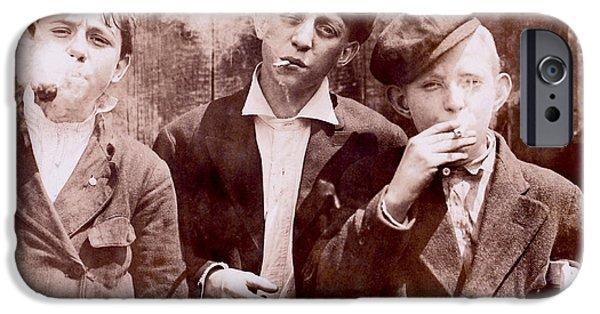 Twenties iPhone Cases - New York City Kids iPhone Case by Jon Neidert
