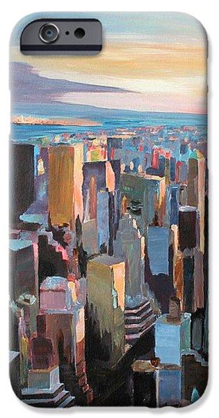New York City - Manhattan Skyline in Warm Sunlight iPhone Case by M Bleichner
