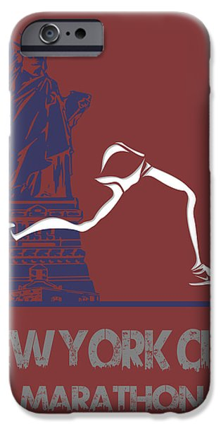 City. Boston iPhone Cases - New York City Marathon iPhone Case by Joe Hamilton