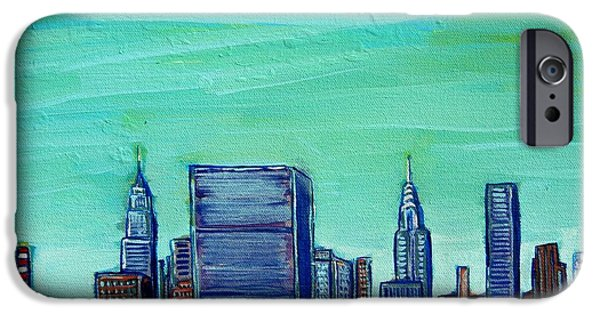 Empire State iPhone Cases - New York City Midtown iPhone Case by Mitchell McClenney