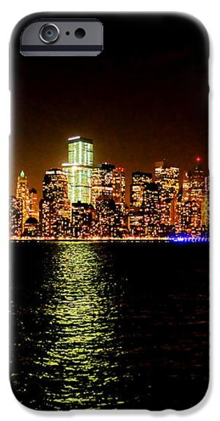 New York City Night iPhone Case by Olivier Le Queinec