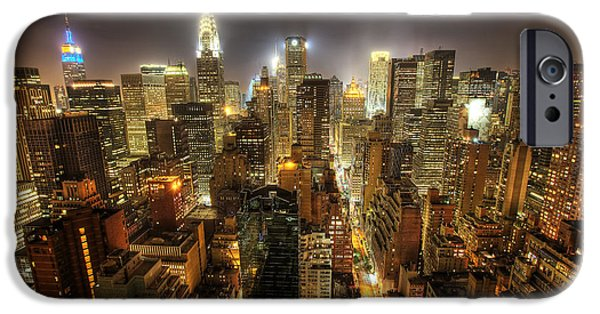 Recently Sold -  - Empire State iPhone Cases - New York City Night iPhone Case by Shawn Everhart