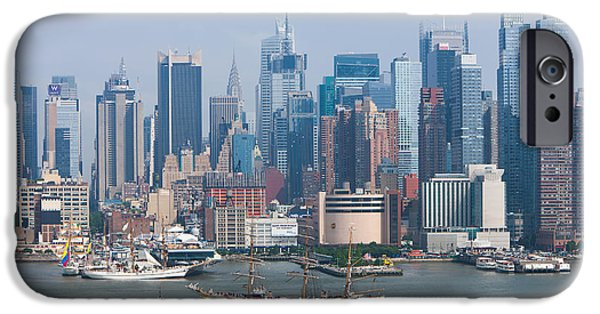 States iPhone Cases - New York City Parade of Sail I iPhone Case by Clarence Holmes