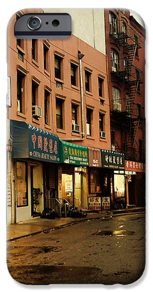 New York City - Rainy Afternoon - Doyers Street iPhone Case by Vivienne Gucwa