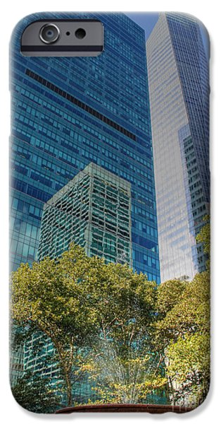New York City Reflections iPhone Case by Bob Hislop