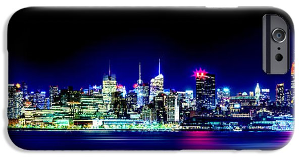 New Jersey iPhone Cases - New York City Skyline iPhone Case by Az Jackson