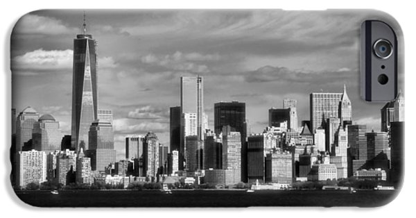 Recently Sold -  - Sailboats iPhone Cases - New York City Skyline Black And White iPhone Case by Dan Sproul