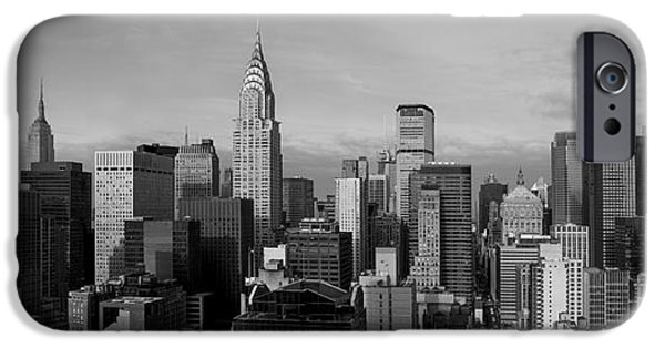 Chrysler iPhone Cases - New York City Skyline iPhone Case by Diane Diederich