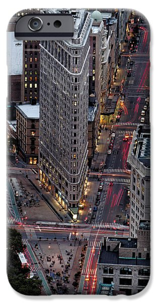 Recently Sold -  - Empire State iPhone Cases - New York City Skyline Flatiron building iPhone Case by Silvio Ligutti