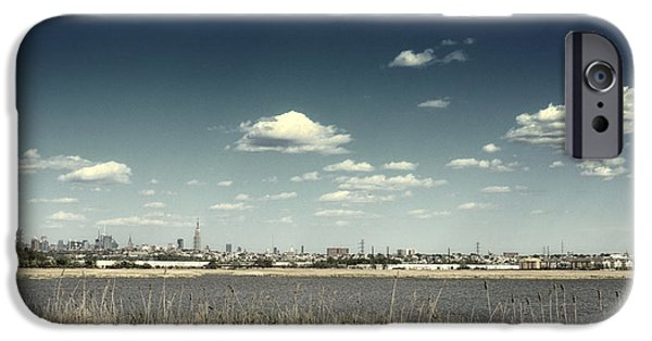 Empire State iPhone Cases - New York City Skyline from New Jersey iPhone Case by Sabine Jacobs