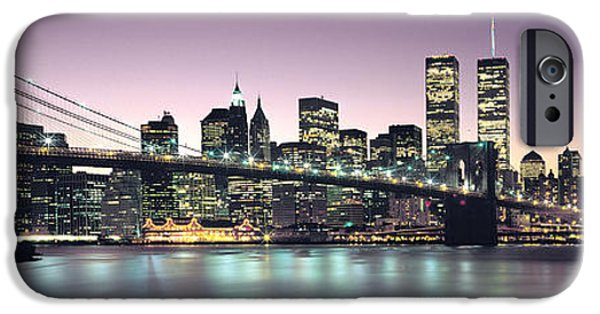 Twin Towers Nyc iPhone Cases - New York City Skyline iPhone Case by Jon Neidert
