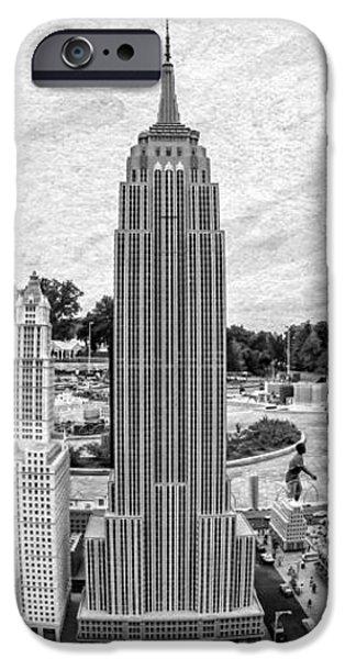 New York City Skyline - Lego iPhone Case by Edward Fielding