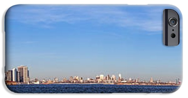 Hudson River iPhone Cases - New York City Skyline iPhone Case by Olivier Le Queinec
