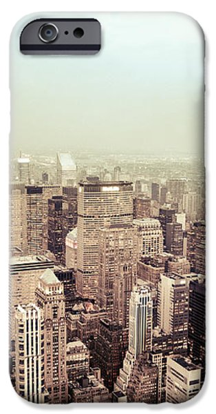 New York City - Skyline on a Hazy Evening iPhone Case by Vivienne Gucwa