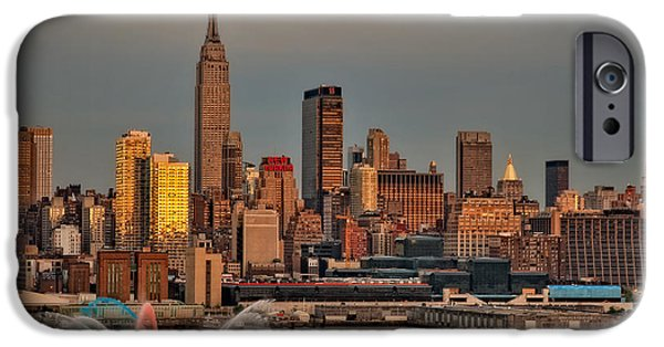 Independance Day iPhone Cases - New York City Sundown on the 4th iPhone Case by Susan Candelario