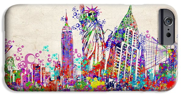Empire State iPhone Cases - New York City tribute 2 iPhone Case by MB Art factory