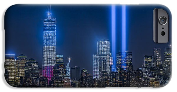 Empire State iPhone Cases - New York City Tribute In Lights iPhone Case by Susan Candelario
