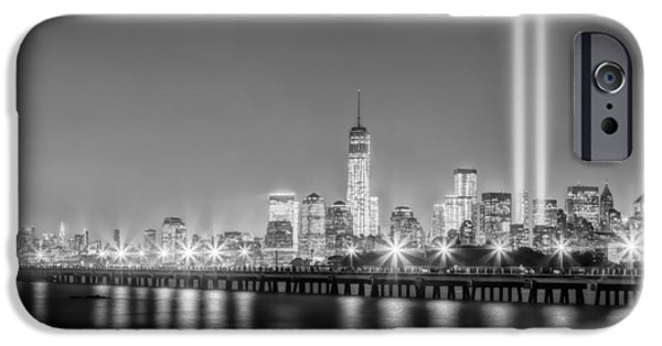 Empire State Building iPhone Cases - New York City Will Never Forget BW iPhone Case by Susan Candelario