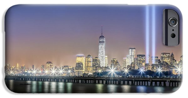 Freedom iPhone Cases - New York City Will Never Forget iPhone Case by Susan Candelario