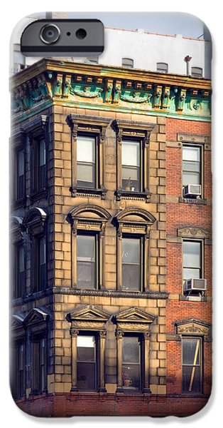 East Village iPhone Cases - New York City - Windows - Old Charm iPhone Case by Gary Heller