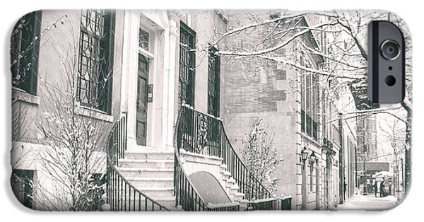 Winterscape iPhone Cases - New York City - Winter Afternoon iPhone Case by Vivienne Gucwa