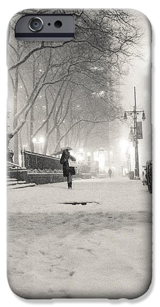 New York City Winter Night iPhone Case by Vivienne Gucwa