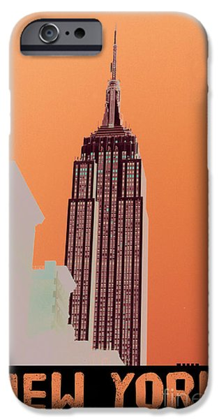 Brooklyn Bridge Mixed Media iPhone Cases - New York Coordinates iPhone Case by Celestial Images