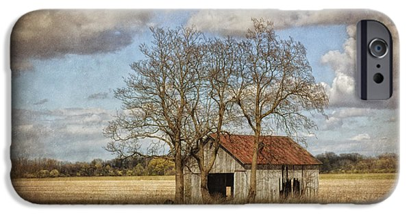 Old Barns iPhone Cases - New York Countryside iPhone Case by Pamela Baker