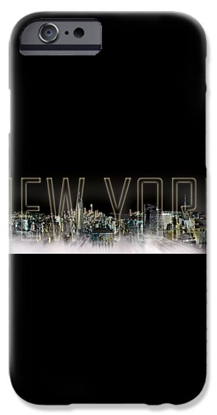 NEW YORK Digital-Art No.2 iPhone Case by Melanie Viola