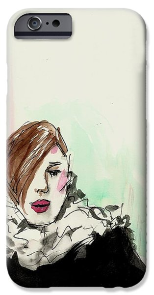 Business Drawings iPhone Cases - New York fashion week iPhone Case by P J Lewis
