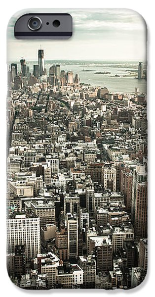 New York from above - vintage iPhone Case by Hannes Cmarits