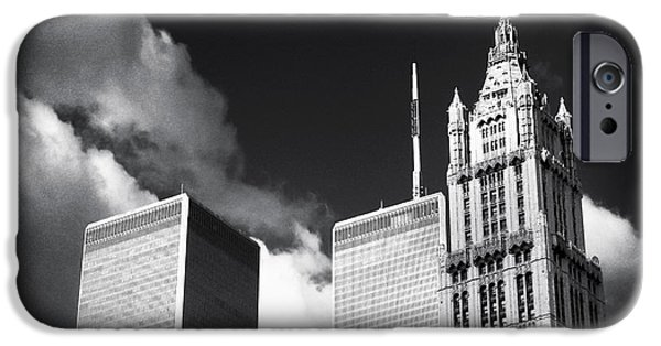 Twin Towers Nyc iPhone Cases - New York Giants 1990s iPhone Case by John Rizzuto