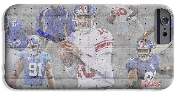 Giant iPhone Cases - New York Giants Team iPhone Case by Joe Hamilton