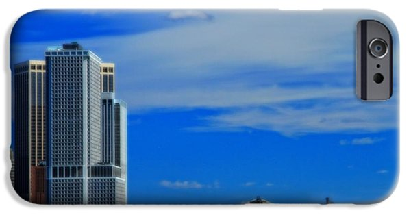Hudson River iPhone Cases - New York Harbor View iPhone Case by Dan Sproul