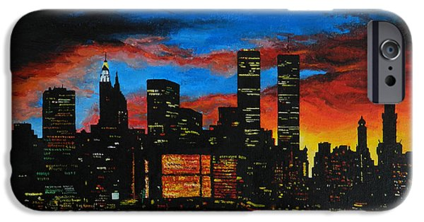 Mechanism Paintings iPhone Cases - New York in the Glory Days iPhone Case by Alexandru Rusu