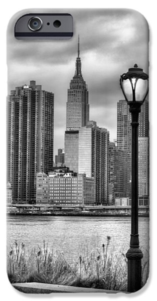 Night Lamp iPhone Cases - New York iPhone Case by JC Findley
