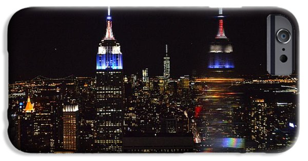 Empire State Pyrography iPhone Cases - New York  iPhone Case by Kyle McKeen