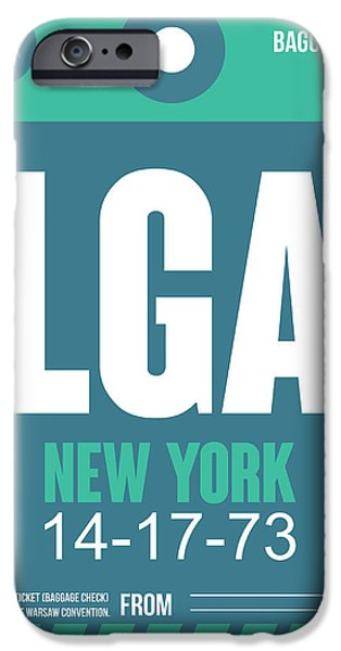 Nyc Mixed Media iPhone Cases - New York Luggage Poster 2 iPhone Case by Naxart Studio
