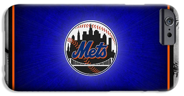 Baseball Field iPhone Cases - New York Mets iPhone Case by Joe Hamilton