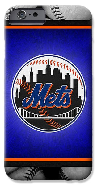 NEW YORK METS iPhone Case by Joe Hamilton