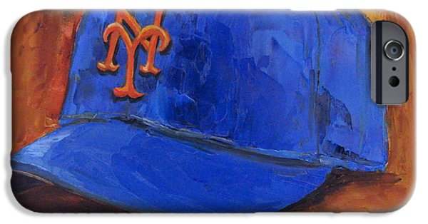 Baseball Art iPhone Cases - New York Mets iPhone Case by Lindsay Frost