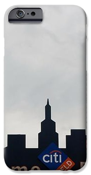 NEW YORK METS SKYLINE iPhone Case by ROB HANS