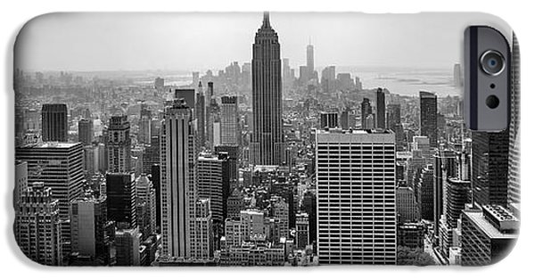 Empire State iPhone Cases - New York Moody Skyline  iPhone Case by Az Jackson